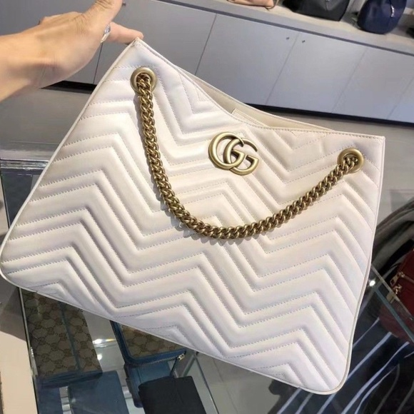 b999ca6d8b02 Gucci Bags | Gg Marmont Medium Matelass Shoulder Bag White | Poshmark